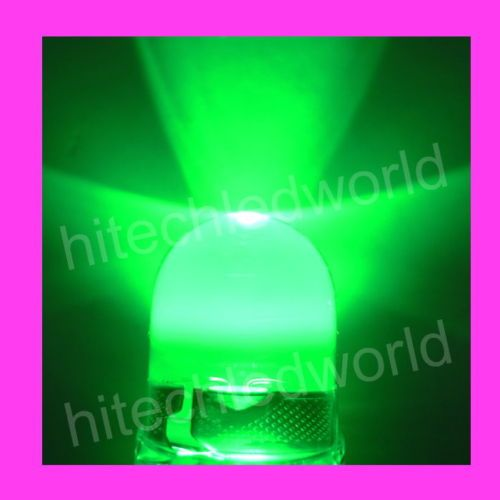 5p High Power 1W 10mm Green LED Lamp Light 400,000mcd